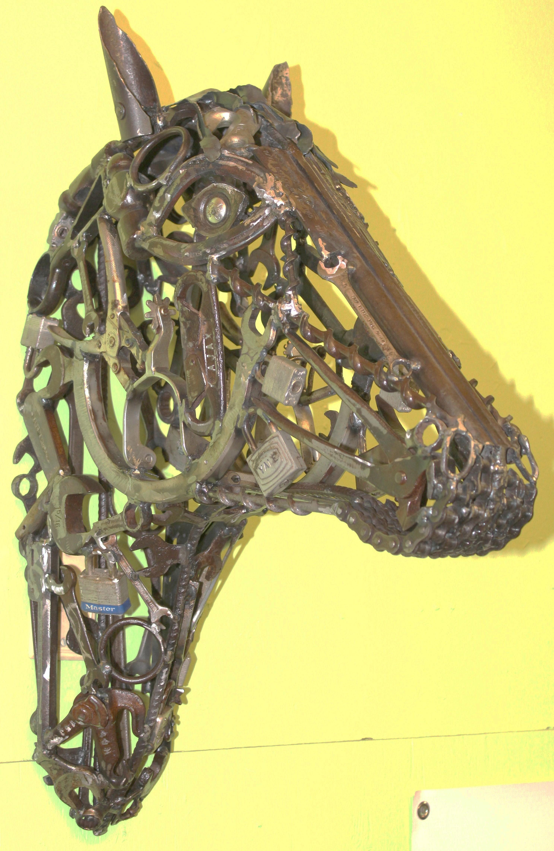 TMJ CREATIVE SCULPTURES HORSE HEADS